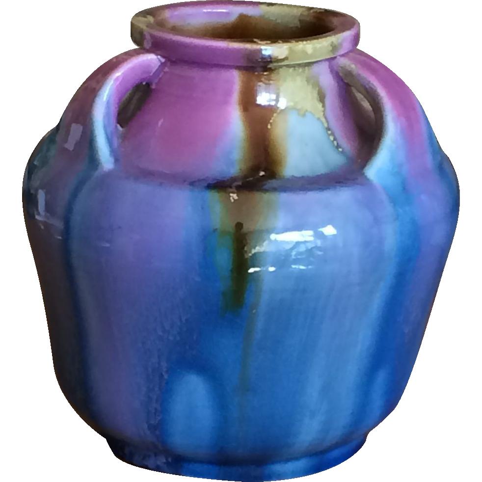 Japanese Awaji Ware Vase