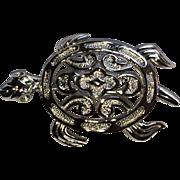Vintage Trifari sea turtle pin