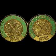Vintage 1962 Houston Texas Country Club Cufflinks