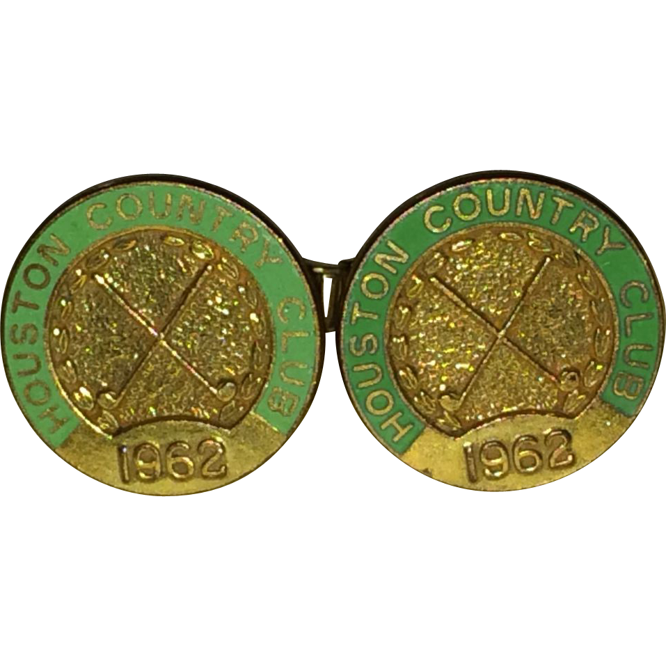 Vintage 1962 Houston Texas Country Club Cufflinks