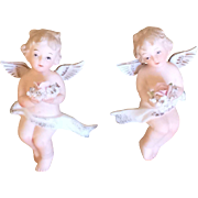 Heavenly Bisque Angels Wall Hangers