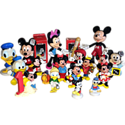 Vintage Mickey Mouse Minnie Mouse and Donald Duck Figures