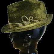 Oktoberfest vintage fuzzy fur felt Trachtenhaus Golimbeck Edelweiss Hut formal Alpine hat