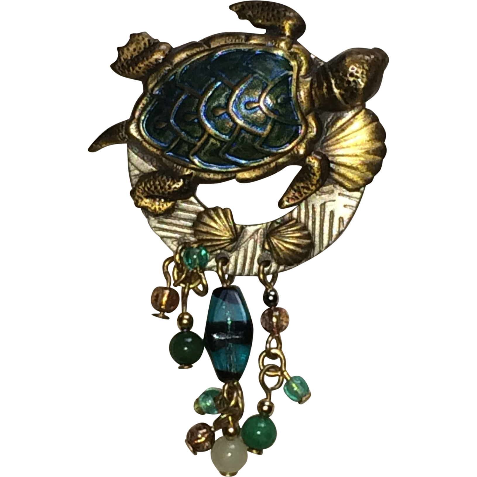 Vintage Sea Turtle  Broach