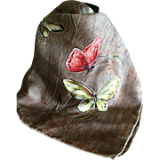 Vintage Silk Butterfly Scarf