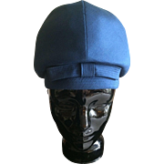 1960s Mod bubble helmet blue silk hat