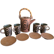 Nishikawa pottery tea set Japan