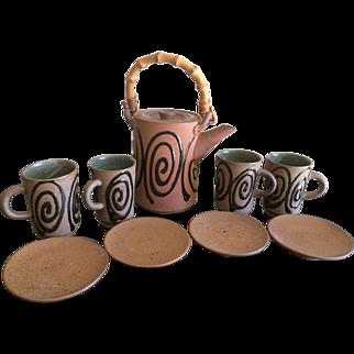 Nishikawa pottery tea set Japan