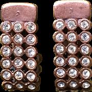 Vintage Design by Ellen copper and rhinestone earrings