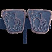 Vintage Danish Modern copper giraffe earrings