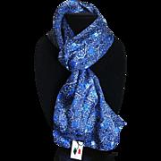 Vintage Shades of Blue Italian scarf