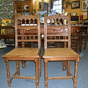 Pair of Henri II Chairs