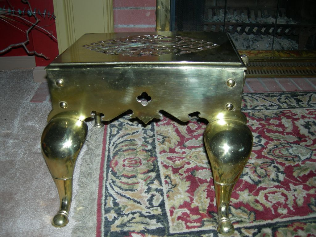 Antique Brass Stepping Stool From France