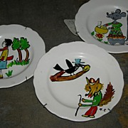 Set of Three Decorative Childrens Plates