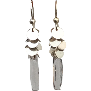 Crystal Waterfall Sterling Silver Earrings