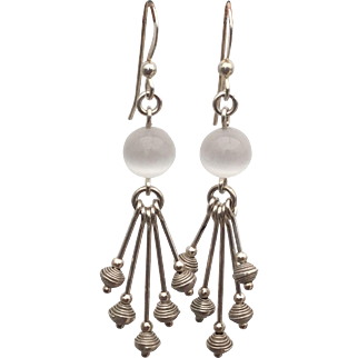 Naevia - Sterling silver Moonstone earrings