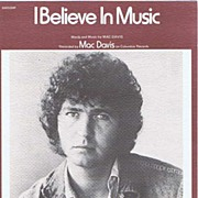 1972 'I Believe In Music' MAC DAVIS Sheet Music Folio~Screen Gems-Columblia Music Publishing