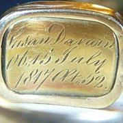 Antique Georgian Gold Mourning Ring for Charles Darwins Mother