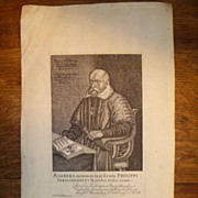 Antique 17th Century Copper Plate Engraving