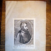 Antique 16th Century Copper Plate Engraving