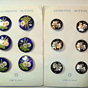 Vintage Inaba Cloisonne Buttons