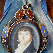Antique Georgian Mourning Pendant