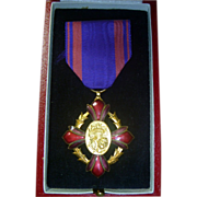 Antique Belgian Medal For the Arts