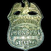 Antique U S Census Badge