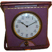 Vintage Alpine Swiss Travel Clock