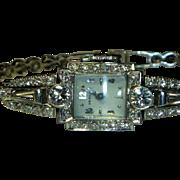 Fabulous Platinum & Diamond Hamilton Wristwatch