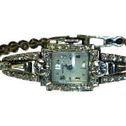 Fabulous Platinum & Diamond Hamilton Wristwatch