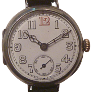 World War One Period Swiss Silver Wrist Watch