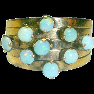 Vintage 14K Gold & Opal Ring