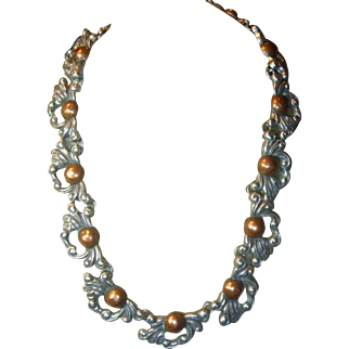 Vintage Mexixcan Mixed Metal Necklace