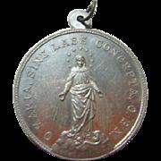 Vintage O Maria Sine Labe Concepta O P N Medal