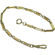 Vintage German Gold Plated Watch Chain