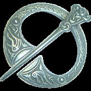 Antique English Made Sterling Penannular Brooch