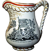 Antique Presentation Crimean War Ceramic Jug