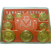 Vintage Set of Varsity Buttons University of Southern California