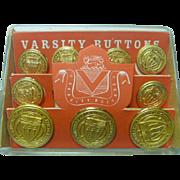 Vintage Set of Varsity Buttons University of Southern California