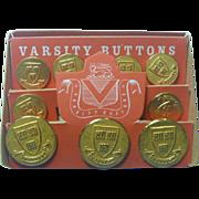 Vintage Varsity Buttons for Harvard University