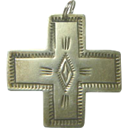 Native American Navajo Silver Cross
