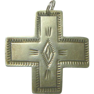 Native American Navajo Silver Cross