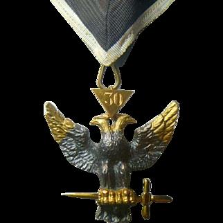 Vintage Masonic Rose Croix Collarette