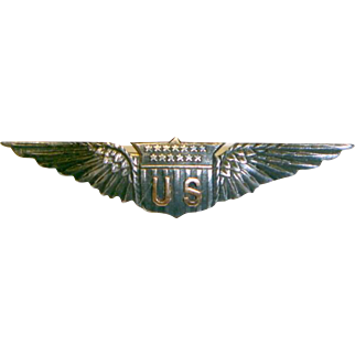 Wonderfull World War One Army Air Corps Sterling & Gold Wing Badge