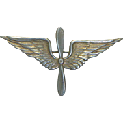 1920's U S Army Air Corps Sterling Wing Pin