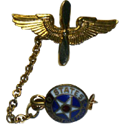 World War Two  Army Air Corps Sweetheart Brooch