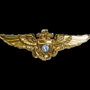 U S Navy Pilot Sweetheart Wing Pin