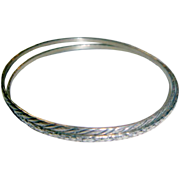 Two Different Sterling Silver Bangle Bracelets by BEAU