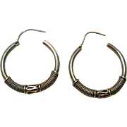 A Pair of Vintage Silver Earrings
